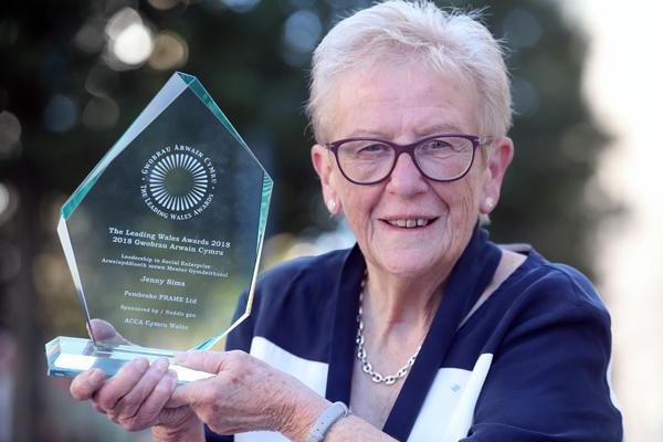 Jenny Sims, winner of Leadership in Social Enterprise